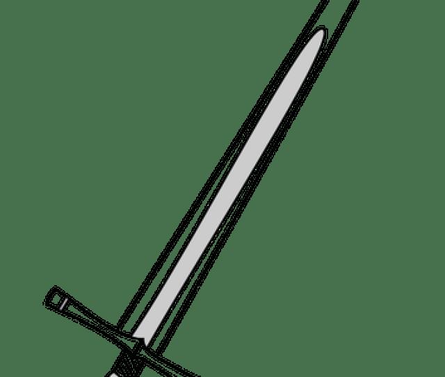 Gambar Pedang Abad Pertengahan Domain Publik Vektor