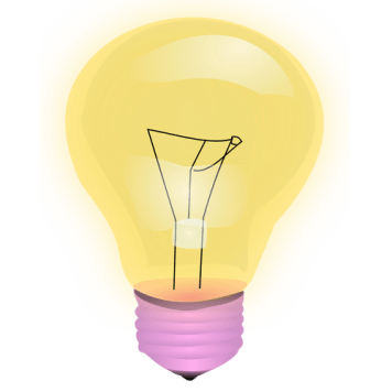 Vector image of yellow light bulb