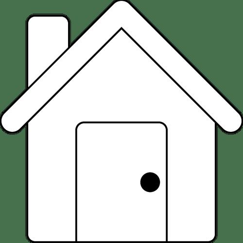 Image De Vecteur De Dessin Au Trait Simple Petite Maison Vecteurs Publiques