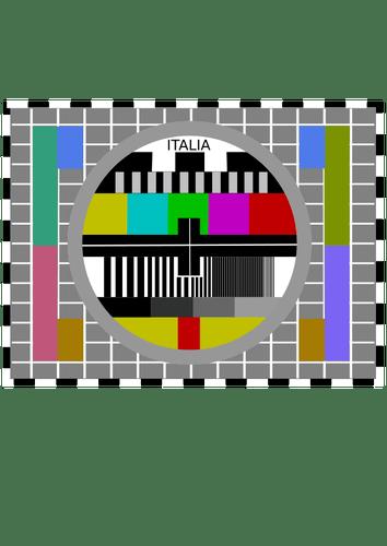 TV Test Card Public Domain Vectors