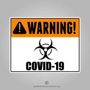 Warning sign Covid-19
