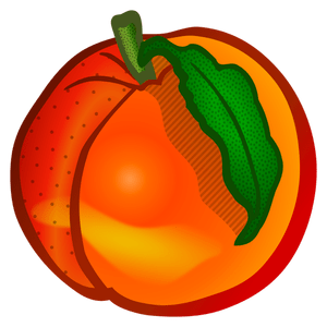 Colored peach