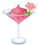 Pink Lady cocktail vector clip art