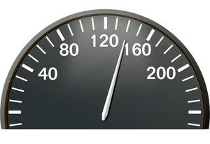 Vector drawing of half of speedometer