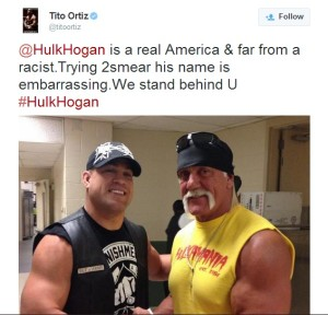 Tito Ortiz and Hulk Hogan are two vile bleached blondes who share an extreme hatred for Blacks / African-Americans