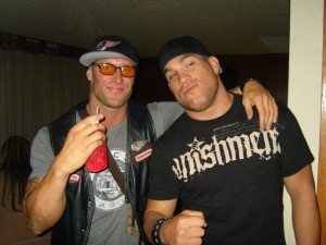 Tito Ortiz with Hell's Angels member Sean Wolfe (who was convicted of cocaine trafficking)