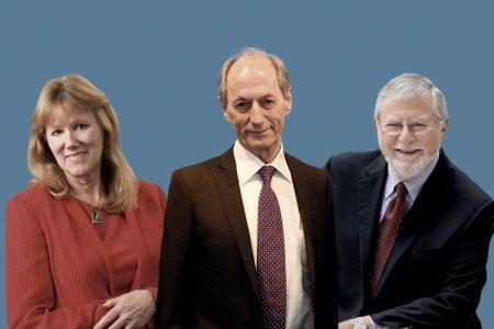 Merry Minkler, Sir Michael Marmot, Len Syme