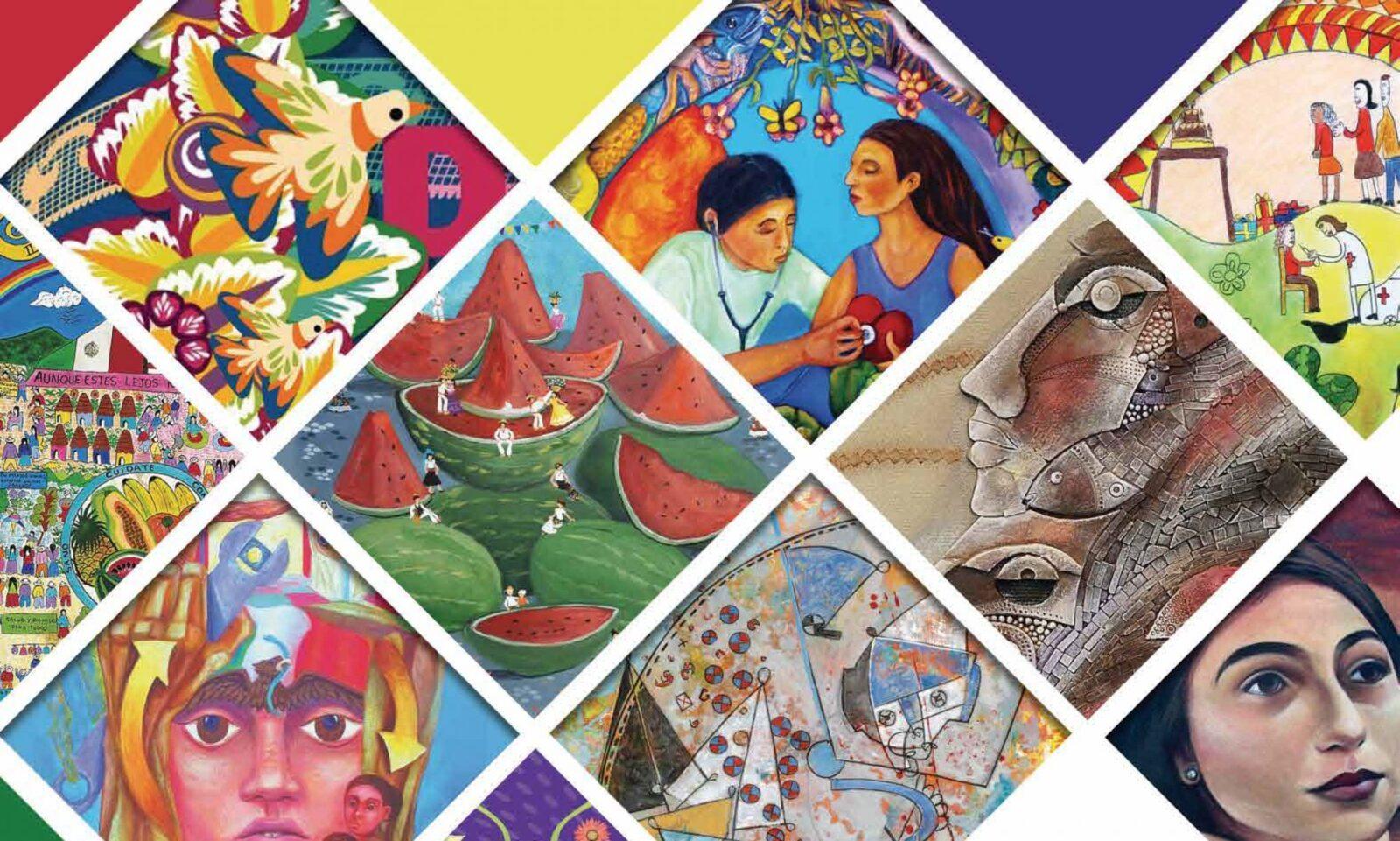 Binational Health Week styled mosaic