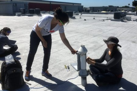 Installation of CO2 monitor.