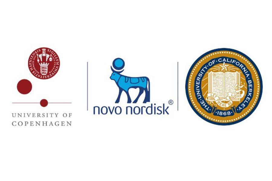 Logos for University of Copenhagen, Novo Nordisk, and UC Berkeley