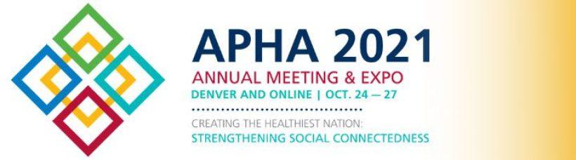 APHA 2021 - Event Details Follow