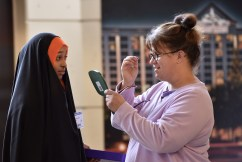 1159 free pairs of eyeglasses were made on site.