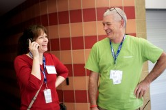 Julia Colson, Project Director, and Public Health's Dave Nichols kept the clinic running smoothly.