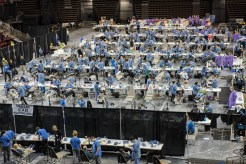 The busy dental floor in Key Arena