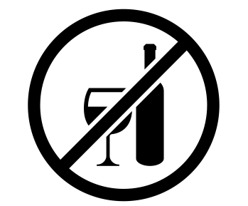 No alcohol