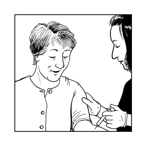 20 Elderly Woman Vaccine