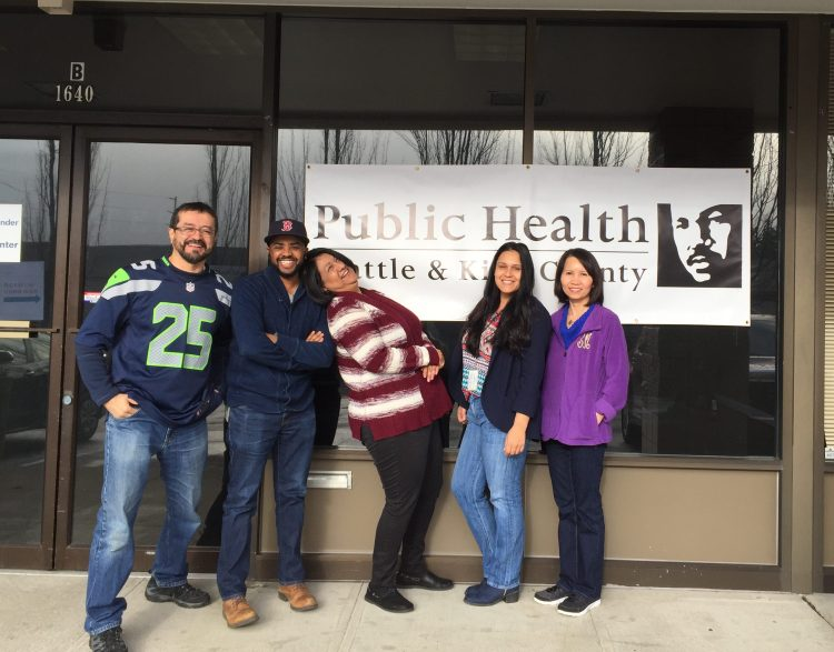 Health insurance Navigators for Public Health, outside the Federal Way Enrollment Center