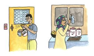 Cuando los abuelos viven con usted: Cómo proteger a los adultos mayores en su casa del COVID-19
