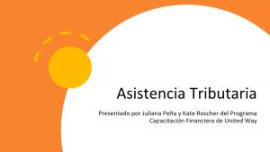 Asistencia Tributaria: 23 de marzo de 2021