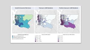 Nuevos datos del condado de King: Los impactos inequitativos en la salud con respecto al COVID-19 se reflejan en las interacciones entre los factores sociales y económicos