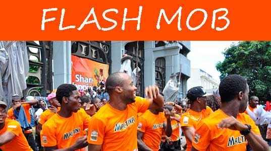 publicidade viral usa flash mob