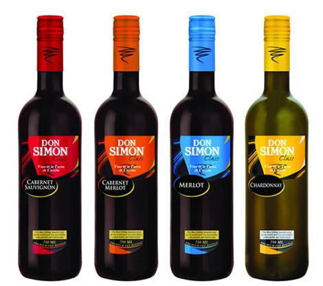 Gamma de vinos de Don Simon Class.