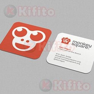 tarjetas de presentacion cuadradas dado 67875985567