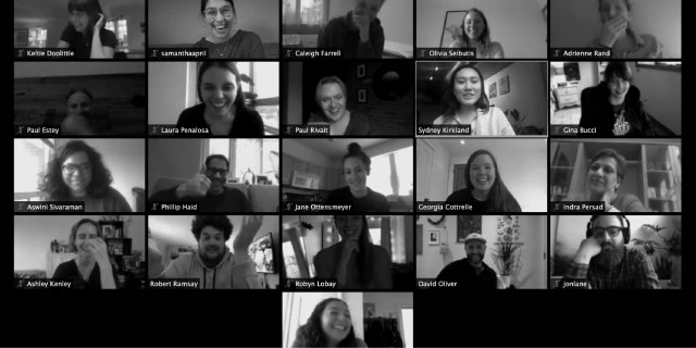zoom vide conference screenshot of colleagues