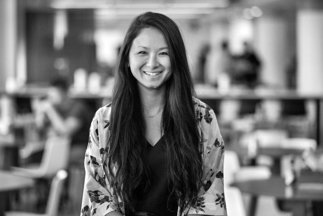 Black and white image of Joan Hanawi from Lyft