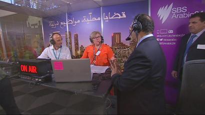 The launch of SBS Arabic 24. Image: SBS
