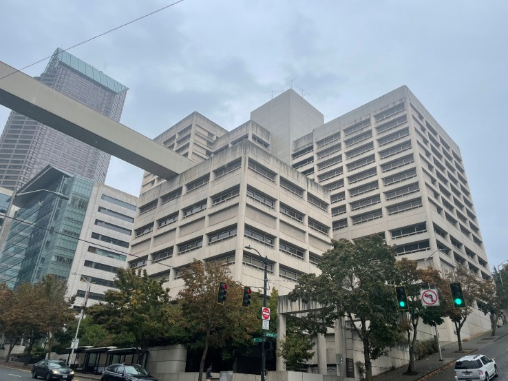 The King County jail in downtown Seattle (Paul Kiefer: PubliCola)