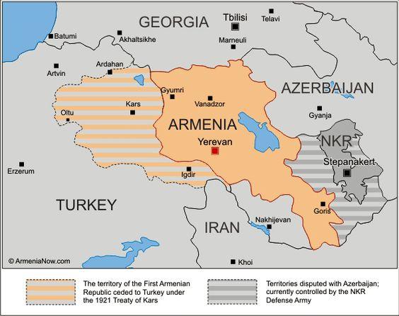 სომხეთის რუკა (დააჭირეთ გასადიდებლად).