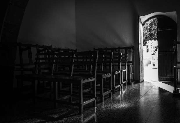 dark church interior
