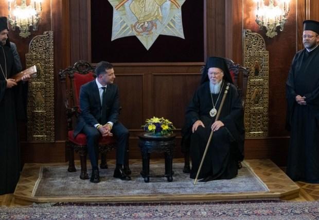 Ecumenical Patriarch Bartholomew and President Zelensky