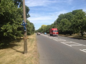 A seemingly wide straight safe road has been the scene of a tragic accident