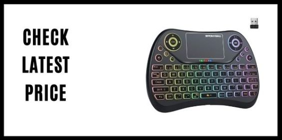 PONYBRO Backlit Mini Wireless Keyboard with Touchpad Mouse Combo