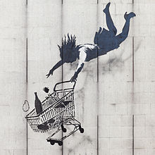 """Shop Until You Drop"" by Banksy, Mayfair, London. © POOP 