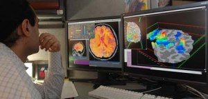 Researcher checking fMRI images. © NIMH | US Department of Health and Human Services