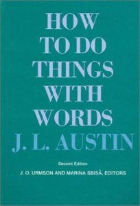 Book cover of How to Do Things with Words by J.L. Austin © Harvard University Press | Amazon.com