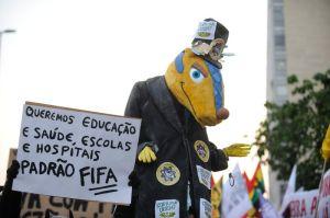 World Cup protest in Rio de Janeiro © Fernando Frazão | Agência Brasil