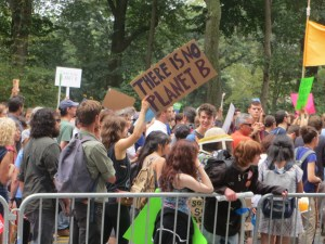 """""""There is no Planet B"""" sign at the People's Climate March, NYC © Andrew Cheu 