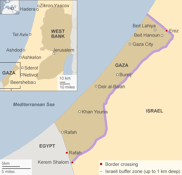 Map 2: The BBC map with the no-go zone as of 18 July 2014 (Note: The BBC kept this map at least until 22 July, 2014.) © BBC | http://www.bbc.com/news/world-middle-east-28359582