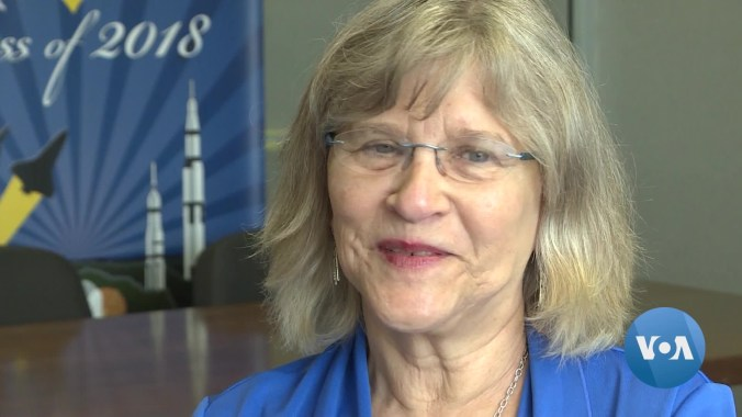 Margrit von Braun was among honored guests and thousands of spectators who gathered in Huntsville for the 50th anniversary