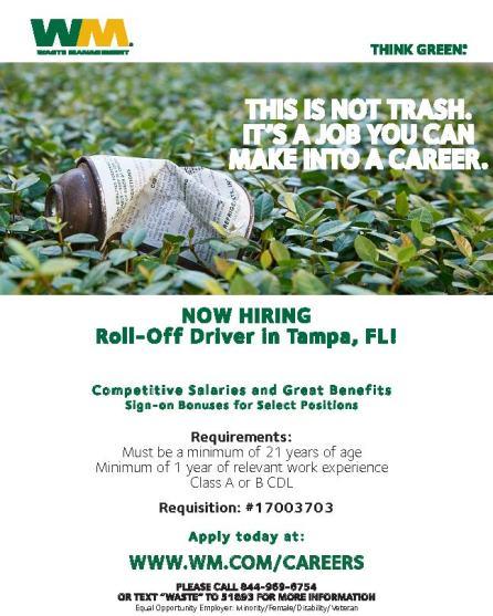 Roll-Off Driver - Tampa FL