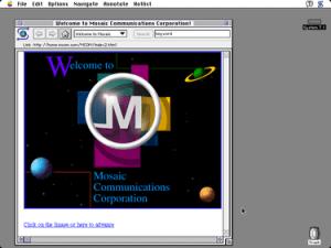 Eerste versie Mosaic. Bron: Wikipedia