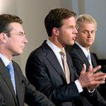 Waarom kijkt Wilders weg?