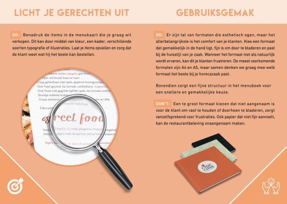 pagina 5 van onze menugids om een menukaart te ontwerpen