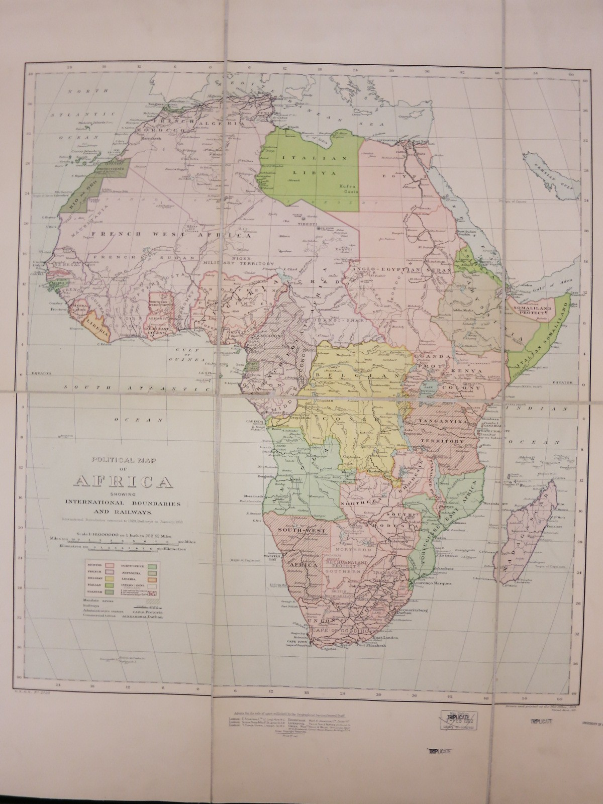 Political Map of Africa  1920   Map Library   University of Illinois     Political Map of Africa  1920