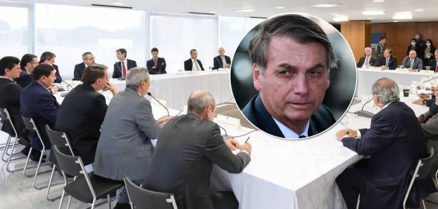 Reunião ministerial e Jair Bolsonaro