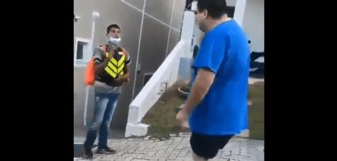 Jovem entregador de aplicativo e vítima de racismo em Valinhos